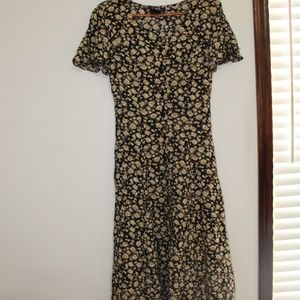 Vintage Maxi Dress with Lace up Back
